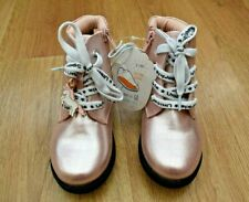 GIRLS BNWT SIZE 8 PINK UNICORN SHOES ANKLE BOOTS + CHARM