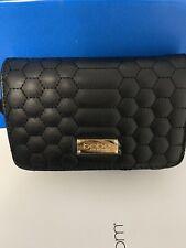 Bebe Katya Crossbody Bag Black with Light Gold Hardware Brand New
