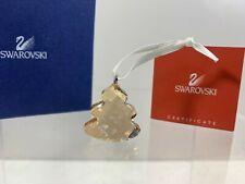 Swarovski Crystal Christmas Ornaments Christmas Tree Goldtone 601494 MIB W/COA