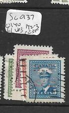 CANADA  (PP1405B) PERF OHMS SG 0137, 140, 142-3  VFU