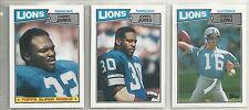 1987 Topps Detroit Lions 11-card Team Set  James Jones  Chuck Long ++