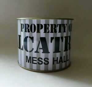 Vintage Alcatraz Tin Mess Hall Cup- Souvenir of San Francisco's Famous Prison