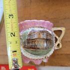 rare Antique Vintage early 1900's YMCA souvenir porcelain cup Burwick PA