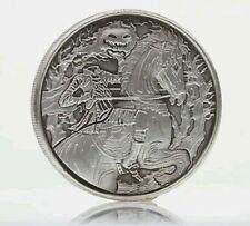 Headless Horseman 2 oz .999 Silver Coin Antiqued Sleepy Hollow, NY Ghost Horse