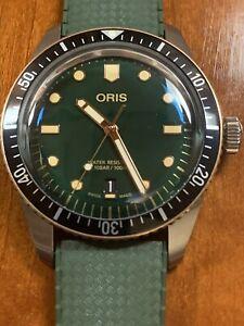 Oris Divers Sixty-Five Men's Watch 40mm Green Dial Bronze Bezel 0173377074357