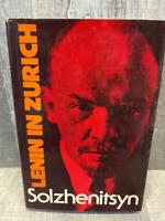 1976 Lenin in Zurich by Alexander Solzhenitsyn First Edition Dustwrapper