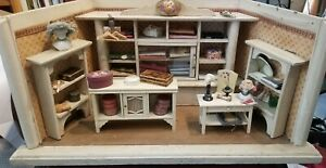 ANTIQUE GOTTSCHALK MILLINERY HAT SHOP wood DOLLHOUSE ROOM BOX