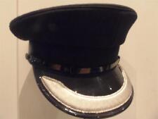 NEW British Police Force Mans Officer Superintendent Black Peaked Cap Hat 56