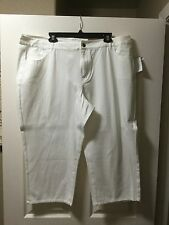 NEW Coldwater Creek white cropped jeans, size 20, retail 69.95