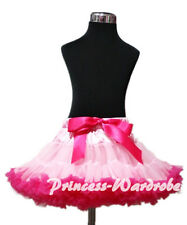 Pageant Light Hot Pink Tutu Skirt Dance Party Dress For Girl Adult Women Lady