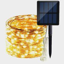 Solar Copper Wire Flexible LED Fairy String Night Lights Outdoor Garden Decor