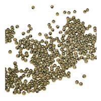 500-Piece Tiny Metal Spacer Round Bes for Jewelry Making Antique Bronze WS M7K2