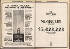THE NATURAL__Original 1984 Trade AD / poster__ROBERT REDFORD_Baseball_Wonder Boy