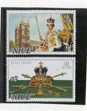 Niue 25 Aniversario ascención al Trono serie del año 1977 (DK-350)