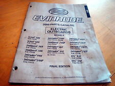 Evinrude Electric Scout Intruder Outboard Motor Catalog Parts Manual 2000 OMC