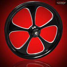 "Harley Davidson Road King 23"" Inch Custom Front Wheel ""5 Blade Black"""