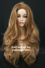 LONG STRAWBERRY BLONDE mix Full WIG  Luscious LAYERED Wavy WAAH 27-613