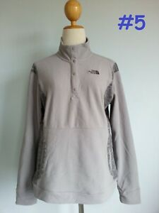 6608 NEW The North Face 1/2 Button TKA 100 Soft Fleece Jacket Top Women XS S M
