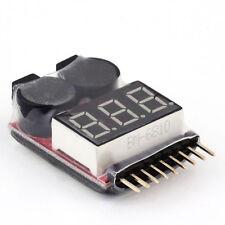 1-8S Lipo Batería Voltaje Medidor Comprobador Advertencia Zumbador Alarma RC