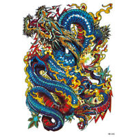 1 Pc Homme Imperméable Amovible Bras Jambe Corps Dragon Art Tatouage Autoco O JE