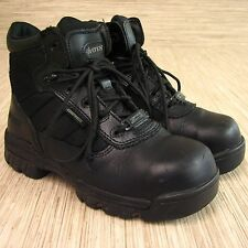 Bates Composite Steel Toed Black Leather Boots Women's US 6.5 EUR 37 Lace-Up