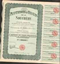 Plantations d'HEVEAS de la SOUCHERE (INDOCHINE) (U)
