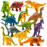 SET OF 8 LARGE DINOSAUR FIGURES ACTION TOY PLAY ANIMALS  T REX JURASSIC PARK