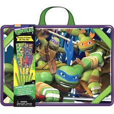 Teenage Mutant Ninja Turtle Travel Art Desk 6 Crayons 4 Markers 2 Sticker Sheets