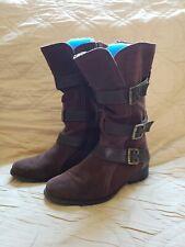 Eddie Bauer Women Size 7.5 Brown Suede Leather Boot