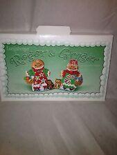 2000 Longaberger Roger & Ginger Cookie Molds Gingerbread Girl Boy