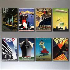8 vintage TRAVEL poster Calamite per Frigo da ART DECO periodo Retrò Repro No. 1