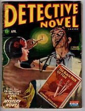 Detective Novel Apr 1945 Cornell Woolrich cover novel w/sexy senorita