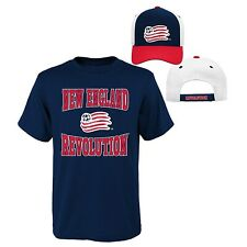 NEW ENGLAND REVOLUTION NBA Youth Boy's Lot Of T-Shirt & Hat NAVY/RED/WHITE XL 18