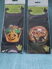 24 Pcs. Halloween Cupcake Wrappers; 12 Orange Jack-O-Lanterns & 12 Black Witches