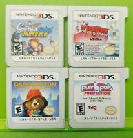 Scibblenauts Purr Pals Paddington WipeOut  Nintendo DS Lite 3DS 2DS Game Lot