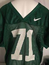 Nike Mens Mesh Football Practice Jersey 2XL Green #71 New