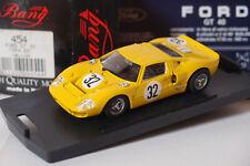 BANG 454 FORD GT 40 #32 SPA 1966 YELLOW 1:43