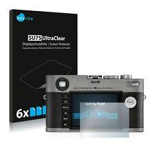 6x Displayschutzfolie für Leica M-E Typ 240 2019 Klar Schutzfolie Displayfolie