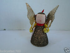 Vintage 1950's  Chenille Gold  Angel Christmas Ornament