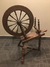 """ANTIQUE PA FARMHOUSE SPINNING WHEEL LARGE 20"""" WHEEL WOOD 1800s WITH FOOT PEDDLE"""