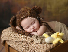 Newborn/Baby Crochet Monkey Hat with Banana Photography Prop