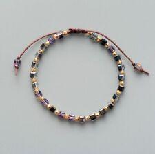 Rainbow Square Crystal Tila Bead Friendship Bracelet Chakra Surf Hipster Leather