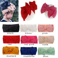 2020 Baby Unisex Bow Bowknot Princess Soft Hairband Headband Turban Headwrap 1pc