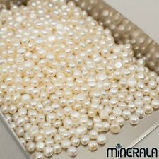 "15mm Lustre Barroco Perlas de agua dulce suelto bolas 15 /"" Blanco Natural 2 Hebras 12"