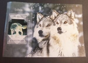 St Thomas & Prince Island 2014 wolves MS MNH UM unmounted