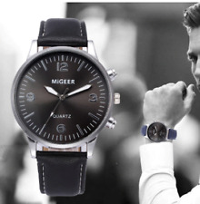 Para Hombres Relojes de pulsera Reloj análogo de Moda Correa De Cuero Marrón Negro Azul Marrón