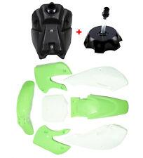 Plastic Fender and Fuel Tank Cap for Kawasaki KLX110 KX65 DRZ110 RM65 Dirt Bike