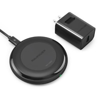 Fast Wireless Charger RAVPower iPhone X, 8/8/9 Plus with HyperAir RP-PC034