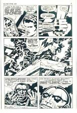 JACK KIRBY SILVER STAR #5 ORIGINAL COMIC PROOF PAGE PRODUCTION ART KING KRACKLE!