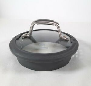"""Calphalon 6""""  Glass And Silicon Strainer Lid. Lid Only"""